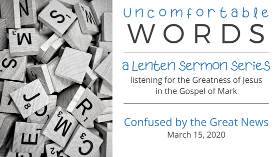 Uncomfortable Words: 'Confused' by the Great News