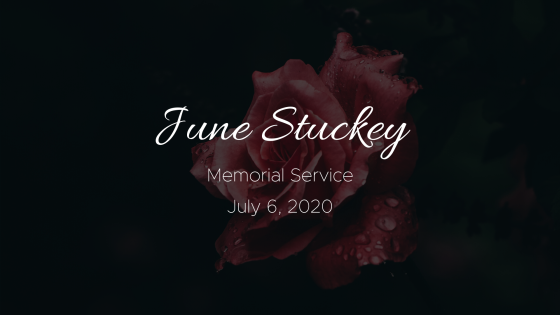 June Stuckey Memorial Service