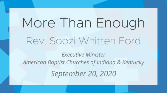 More Than Enough (feat. Rev. Soozi Whitten Ford)