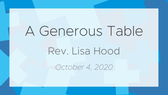 Exploring Generosity: A Generous Table