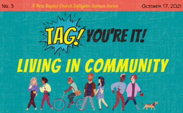 Tag! You're It! – Living in Community